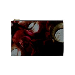 Dark Red Candlelight Candles Cosmetic Bag (Medium)