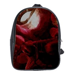 Dark Red Candlelight Candles School Bags(Large)