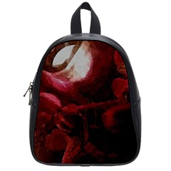 Dark Red Candlelight Candles School Bags (small)