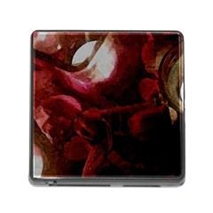 Dark Red Candlelight Candles Memory Card Reader (Square)