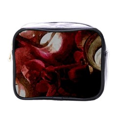 Dark Red Candlelight Candles Mini Toiletries Bags