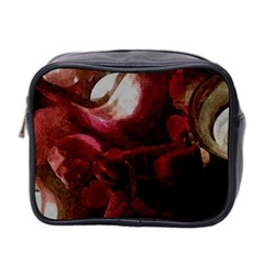 Dark Red Candlelight Candles Mini Toiletries Bag 2-Side