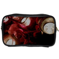 Dark Red Candlelight Candles Toiletries Bags 2-Side