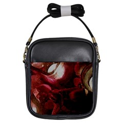 Dark Red Candlelight Candles Girls Sling Bags
