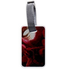 Dark Red Candlelight Candles Luggage Tags (One Side)