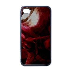 Dark Red Candlelight Candles Apple iPhone 4 Case (Black)