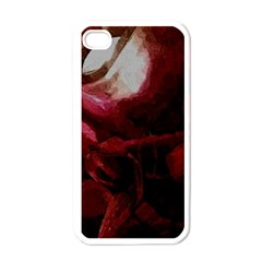 Dark Red Candlelight Candles Apple iPhone 4 Case (White)