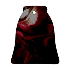 Dark Red Candlelight Candles Ornament (Bell)
