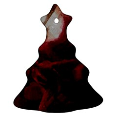 Dark Red Candlelight Candles Christmas Tree Ornament (2 Sides)