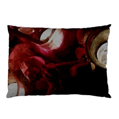 Dark Red Candlelight Candles Pillow Case (Two Sides)