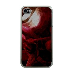 Dark Red Candlelight Candles Apple iPhone 4 Case (Clear)