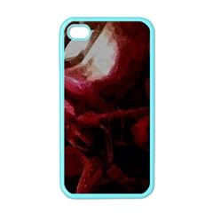 Dark Red Candlelight Candles Apple iPhone 4 Case (Color)