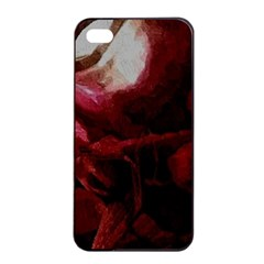 Dark Red Candlelight Candles Apple iPhone 4/4s Seamless Case (Black)