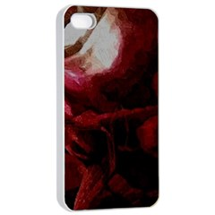 Dark Red Candlelight Candles Apple iPhone 4/4s Seamless Case (White)
