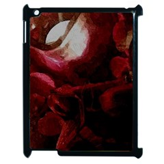 Dark Red Candlelight Candles Apple iPad 2 Case (Black)