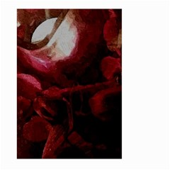 Dark Red Candlelight Candles Large Garden Flag (Two Sides)