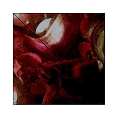 Dark Red Candlelight Candles Acrylic Tangram Puzzle (6  x 6 )