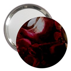 Dark Red Candlelight Candles 3  Handbag Mirrors