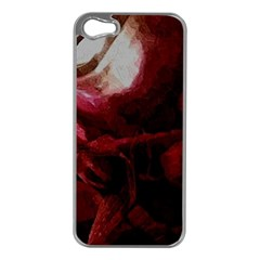 Dark Red Candlelight Candles Apple iPhone 5 Case (Silver)