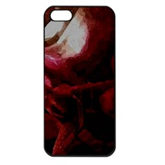 Dark Red Candlelight Candles Apple iPhone 5 Seamless Case (Black)