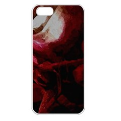 Dark Red Candlelight Candles Apple iPhone 5 Seamless Case (White)
