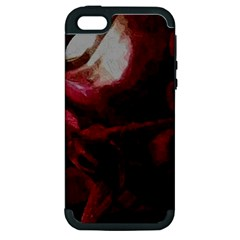 Dark Red Candlelight Candles Apple iPhone 5 Hardshell Case (PC+Silicone)