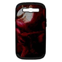 Dark Red Candlelight Candles Samsung Galaxy S III Hardshell Case (PC+Silicone)