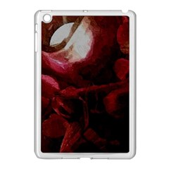 Dark Red Candlelight Candles Apple iPad Mini Case (White)