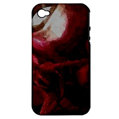 Dark Red Candlelight Candles Apple iPhone 4/4S Hardshell Case (PC+Silicone)