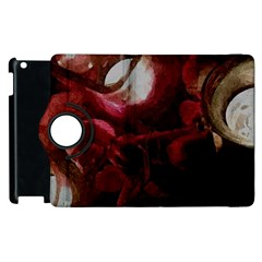 Dark Red Candlelight Candles Apple iPad 2 Flip 360 Case