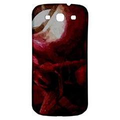 Dark Red Candlelight Candles Samsung Galaxy S3 S III Classic Hardshell Back Case