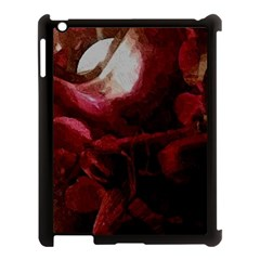 Dark Red Candlelight Candles Apple iPad 3/4 Case (Black)