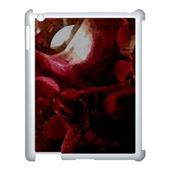 Dark Red Candlelight Candles Apple iPad 3/4 Case (White)
