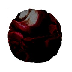 Dark Red Candlelight Candles Standard 15  Premium Round Cushions