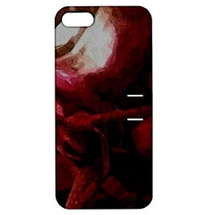 Dark Red Candlelight Candles Apple iPhone 5 Hardshell Case with Stand