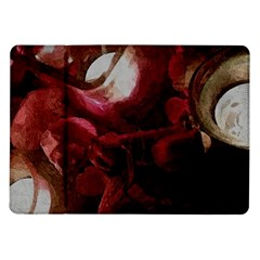 Dark Red Candlelight Candles Samsung Galaxy Tab 10.1  P7500 Flip Case
