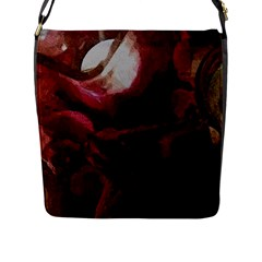 Dark Red Candlelight Candles Flap Messenger Bag (L)