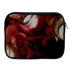 Dark Red Candlelight Candles Apple iPad 2/3/4 Zipper Cases