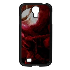 Dark Red Candlelight Candles Samsung Galaxy S4 I9500/ I9505 Case (Black)