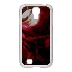 Dark Red Candlelight Candles Samsung GALAXY S4 I9500/ I9505 Case (White)