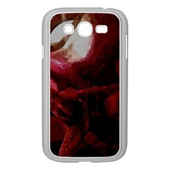 Dark Red Candlelight Candles Samsung Galaxy Grand DUOS I9082 Case (White)