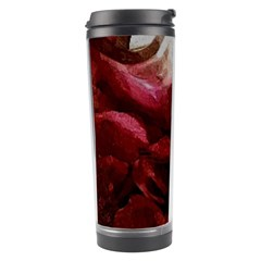 Dark Red Candlelight Candles Travel Tumbler