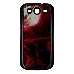 Dark Red Candlelight Candles Samsung Galaxy S3 Back Case (Black)