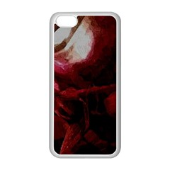 Dark Red Candlelight Candles Apple iPhone 5C Seamless Case (White)
