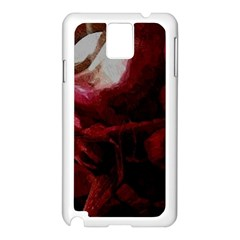 Dark Red Candlelight Candles Samsung Galaxy Note 3 N9005 Case (White)