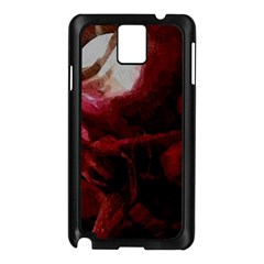 Dark Red Candlelight Candles Samsung Galaxy Note 3 N9005 Case (Black)