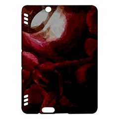 Dark Red Candlelight Candles Kindle Fire HDX Hardshell Case