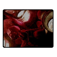 Dark Red Candlelight Candles Double Sided Fleece Blanket (Small)