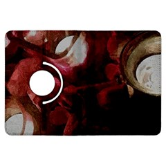 Dark Red Candlelight Candles Kindle Fire HDX Flip 360 Case