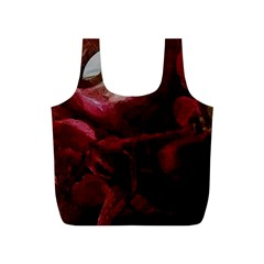 Dark Red Candlelight Candles Full Print Recycle Bags (S)
